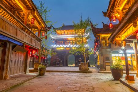 中国四川省黄龍の谷、 写真素材