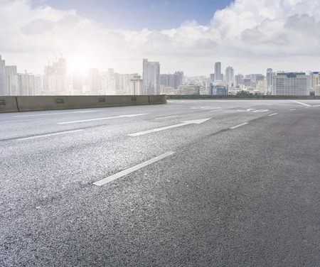 Roads  and the beautiful skyline of Chongqing