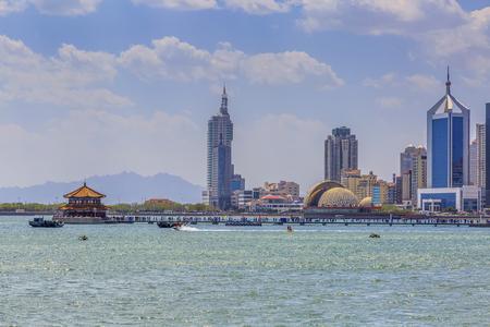 Qingdao skyline and city skyline