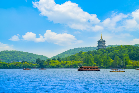 The scenery of Hangzhou West Lake