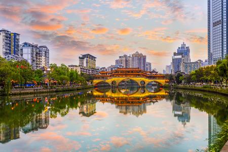 成都錦江の風景 写真素材