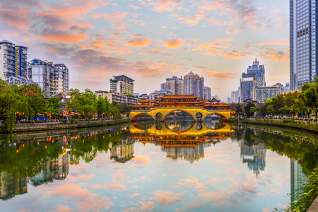 청두 진강 풍경 스톡 콘텐츠