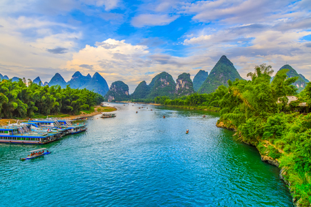 Lijiang River at Guilin scenery