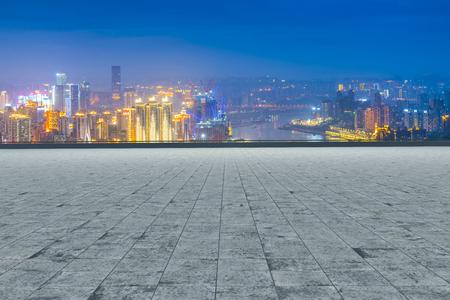 Road and city skyline Stock Photo