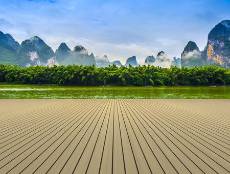 Guilin Lijiang River landscape in Yangshuo