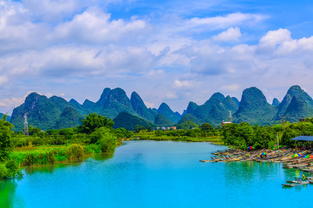 The beautiful scenery of Lijiang River in Guilin