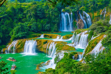 Nature landscape scenery view of a waterfall