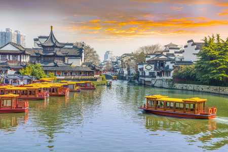 Nanjing Qinhuai River, a famous historical and cultural tourist attractions.