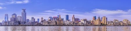 Panoramic view of the Bund Shanghai Stok Fotoğraf