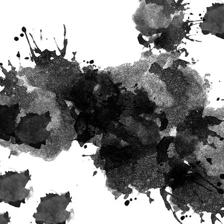 silent: Ink splash on white background