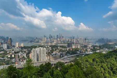 The beautiful city scenery of Chongqing Stock Photo