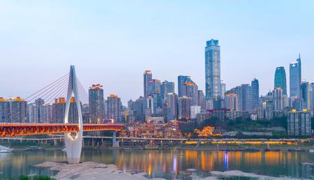 重慶の街の風景