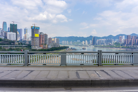 asphalt texture: Urban architecture and skyline of chongqing