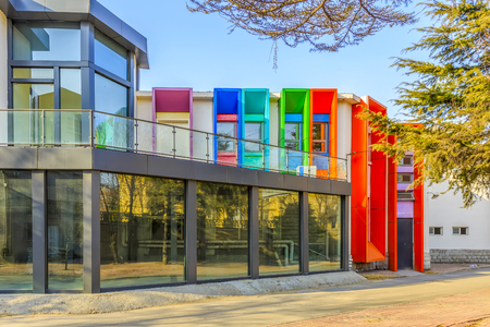 Modern office colorful buildings