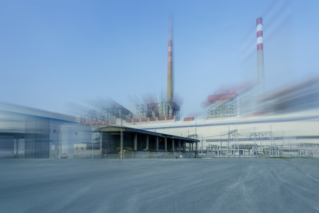 metal structure: Factory workshop with effect background Stock Photo