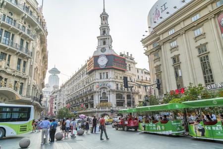 南京路商業街、上海 報道画像