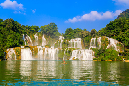 Landscape scenery view of a waterfall in China