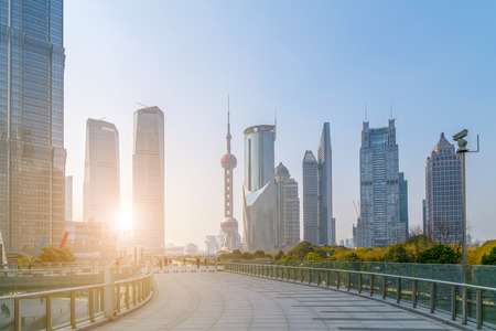 Architectural scenery of Lujiazui, Shanghai Stock Photo