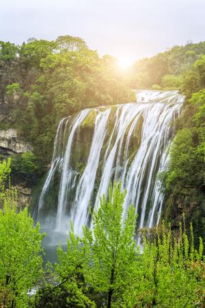 waterfall scenery 版權商用圖片