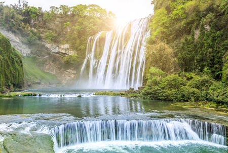 waterfall scenery Standard-Bild