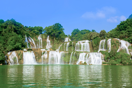 Nature landscape scenery view of a waterfall in China