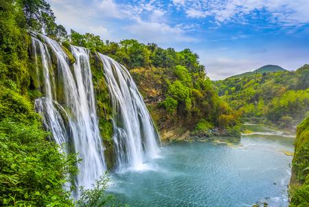 中国では滝の自然景観・風景 写真素材
