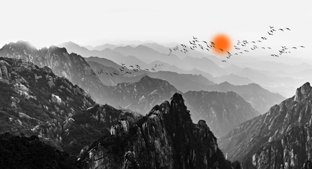 Mount Huangshan clouds and mist Stock Photo - 91791643