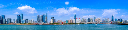 Urban architectural landscape and Qingdao skyline 写真素材