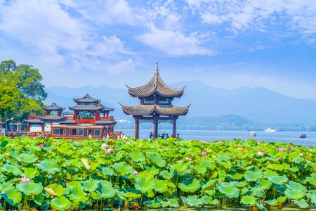 The landscape of Hangzhou, West Lake