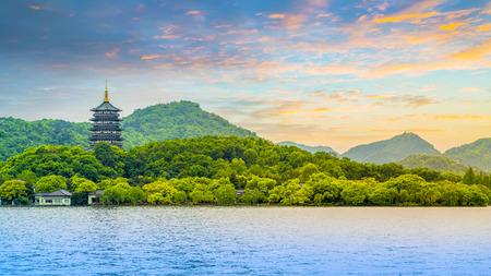 landscape of Hangzhou, West Lake Standard-Bild