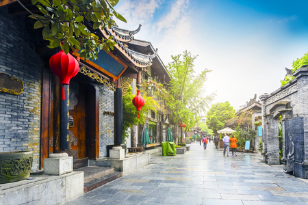 Chengdu Kuan Alley en Zhai Alley