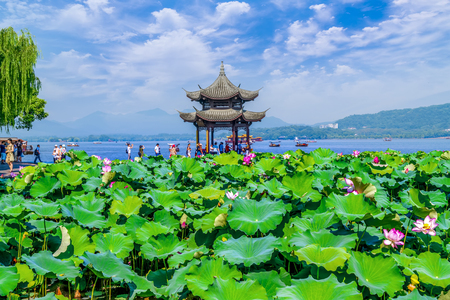 The landscape of West Lake, Hangzhou