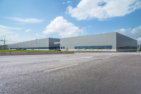 Modern factory building and logistics warehouse