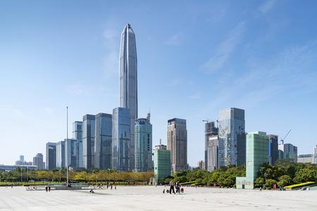 Shenzhen city skyline landscape architecture 写真素材