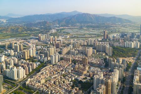 A bird's eye view of urban architecture in Shenzhen