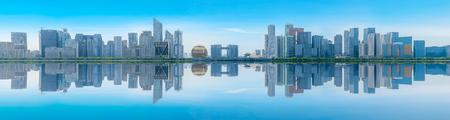 Urban buildings and skylines in Hangzhou