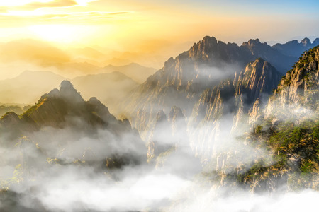 The natural scenery of Mount Huangshan