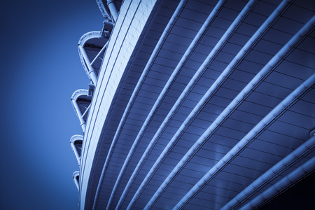 Close-up of modern building in China Editorial