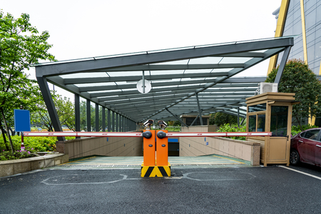 Underground parking entrance