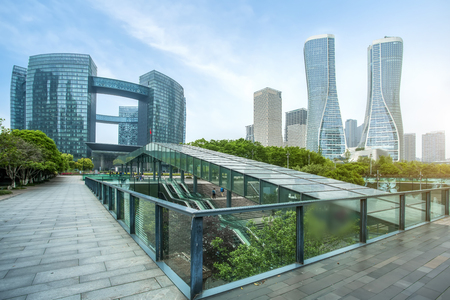 Modern architectural buildings in the city Stock Photo