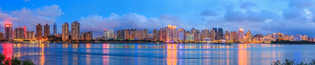 Night view of the  city of Wenzhou