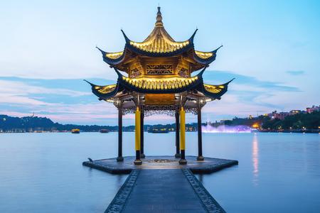 Hangzhou Jixian Pavilion at West Lake
