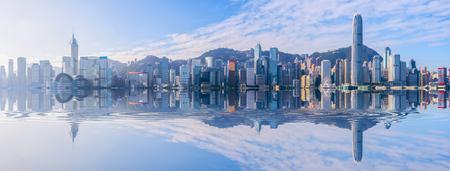 Stadshorizon van Hongkong Stockfoto