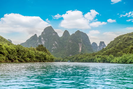 Scenic view of Lijiang river