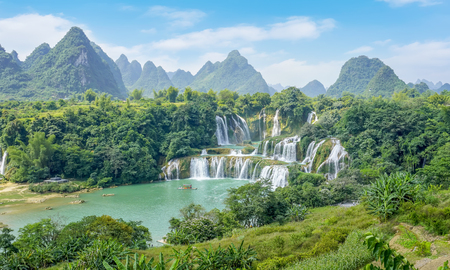Detian waterfalls scenery