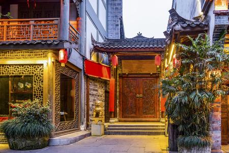 Chengdu Huanglongxi night view Stock fotó