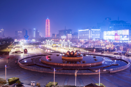 Jinan Quancheng Square night view