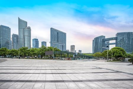 Hangzhou Qianjiang nieuwe stad Stockfoto