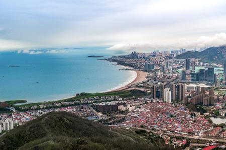 Qingdao city skyline Stok Fotoğraf