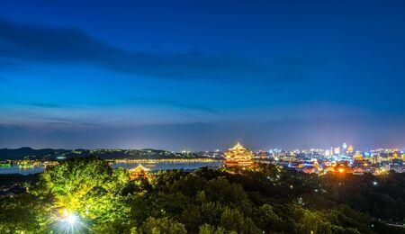 Wushan Grand View Night View Foto de archivo